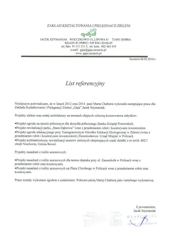 Projekty Gaja 2012-2014