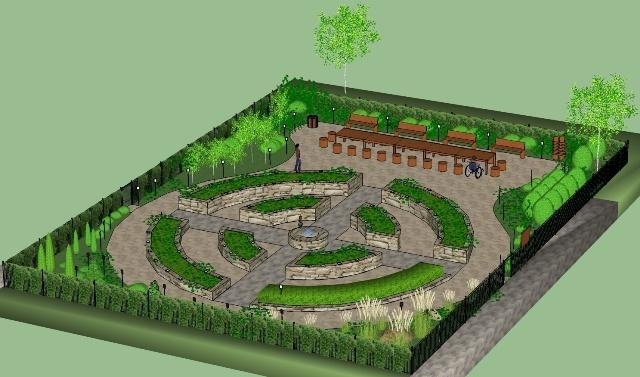 Projekt ogrodu edukacyjnego Zalesie