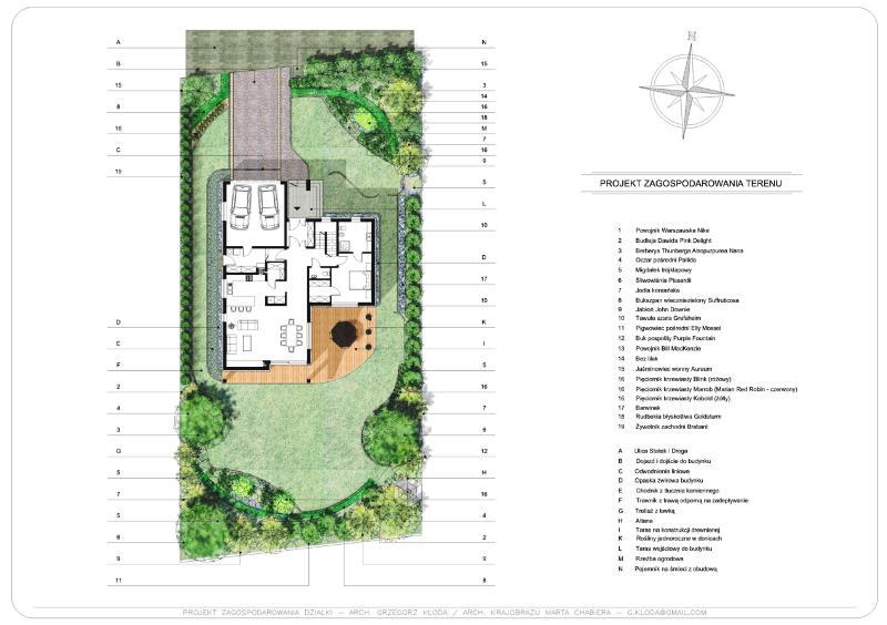 Projekt ogrodu przydomowego Cieszyn